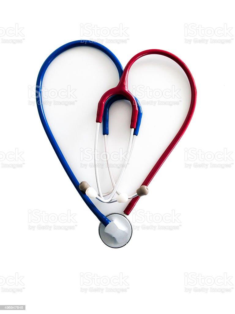 Stethoscopes heart royalty-free stock photo