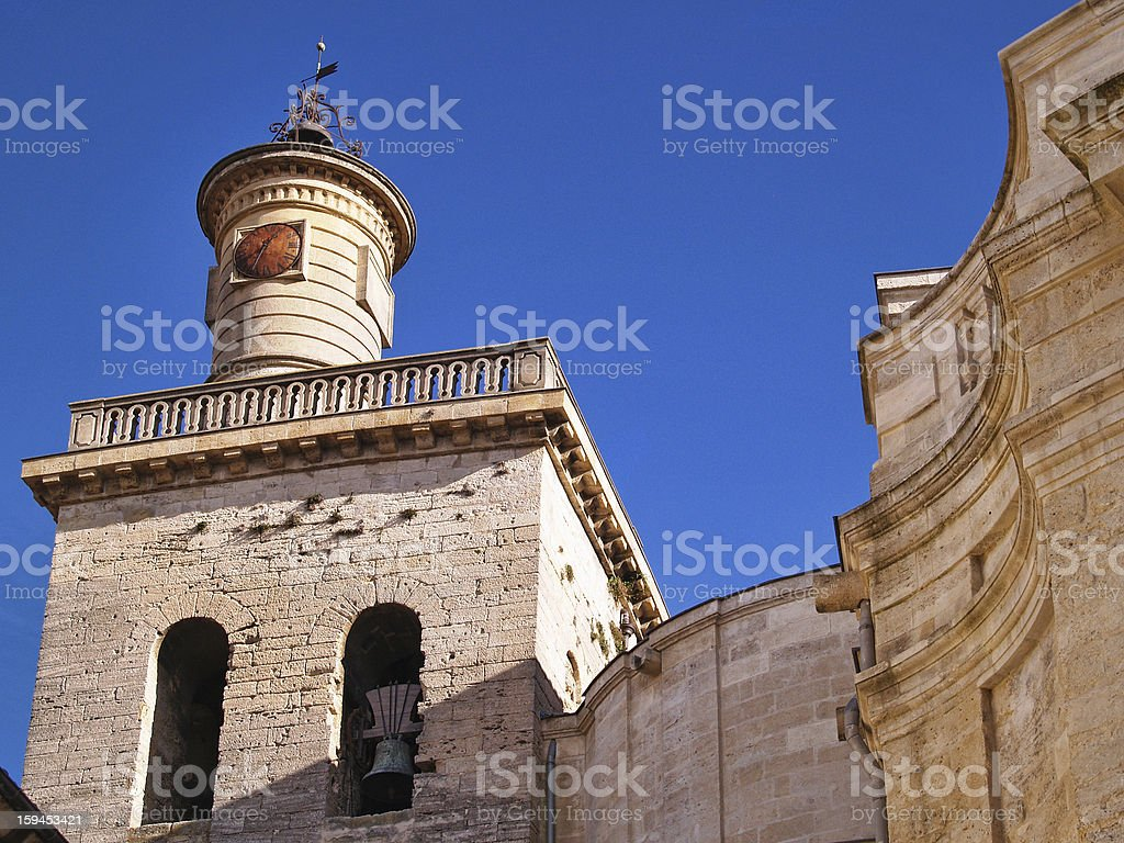 St.Etienne cathedral in Uzes royalty-free stock photo