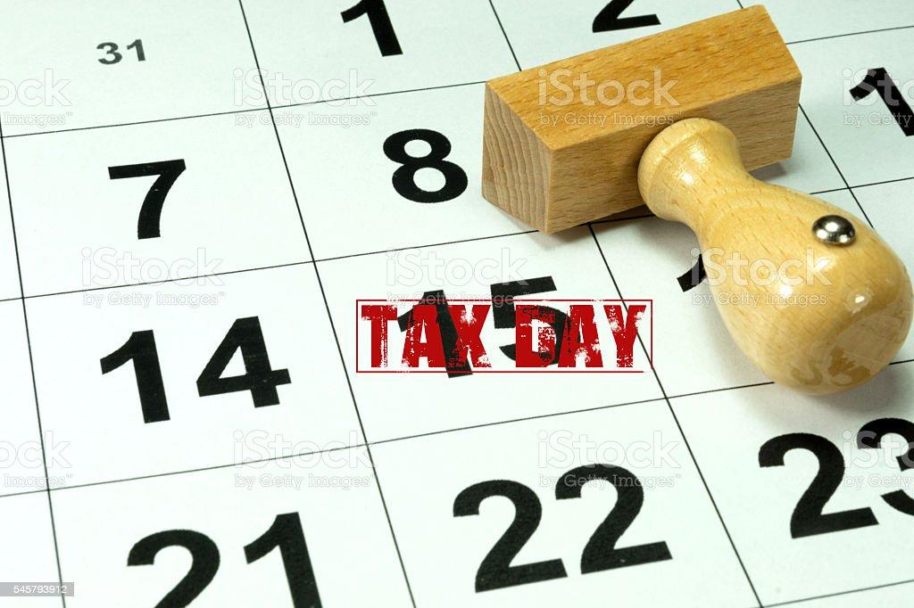 Steuer und Kalender stock photo
