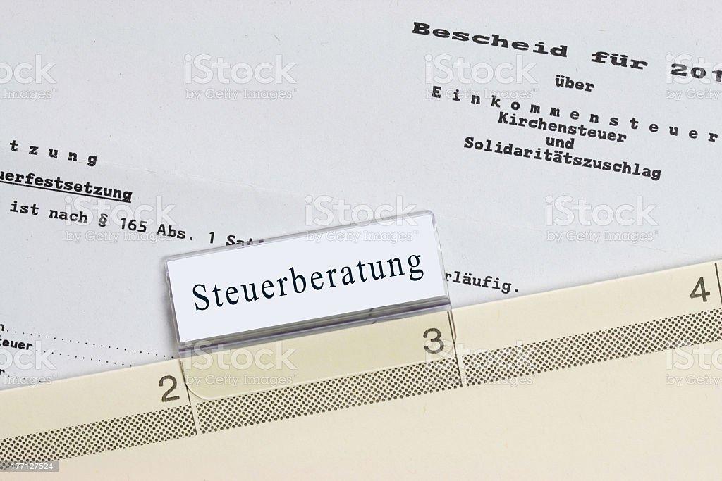 Steuerberatung - Steuerbescheid royalty-free stock photo