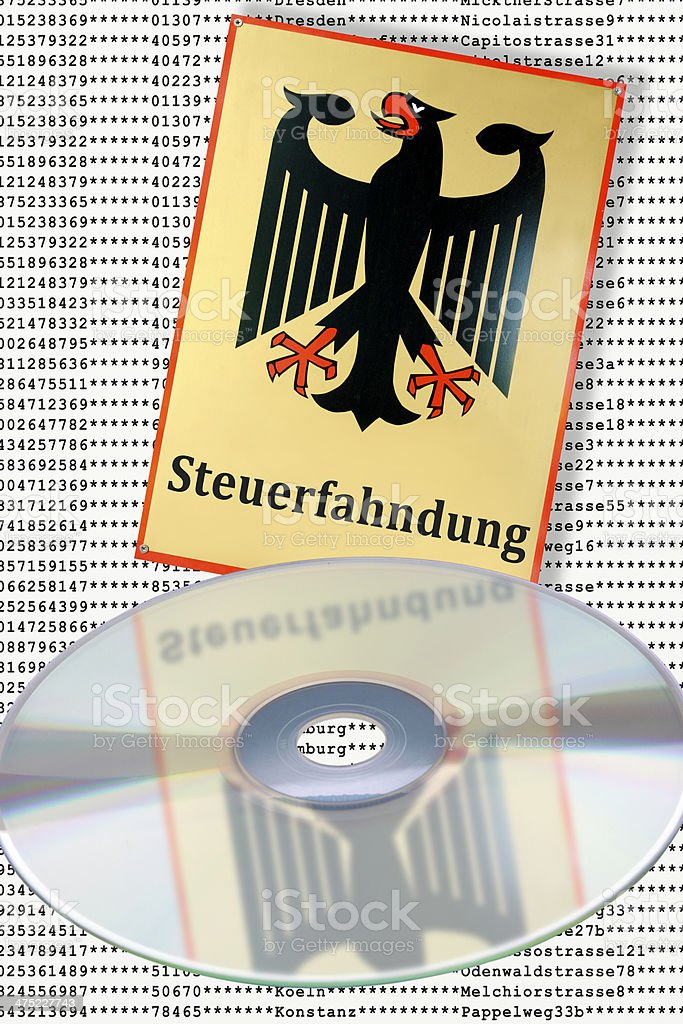 SteuerCD stock photo