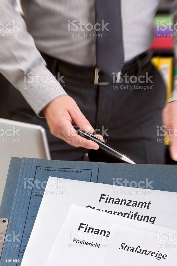 Steuerfahndung stock photo