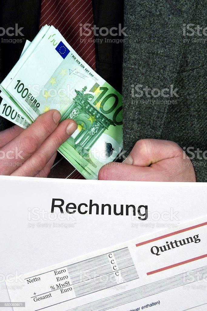 Steuerhinterziehung stock photo