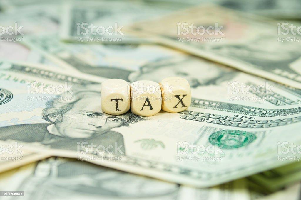Steuern und Bargeld stock photo