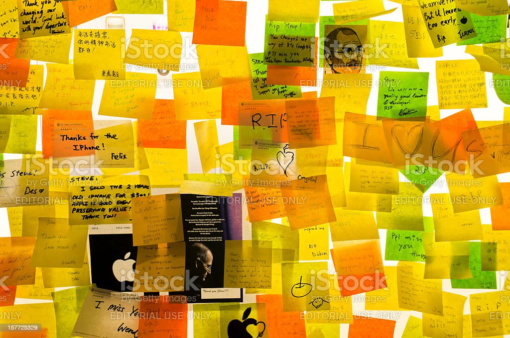 Steve Jobs death memorial royalty-free stock photo