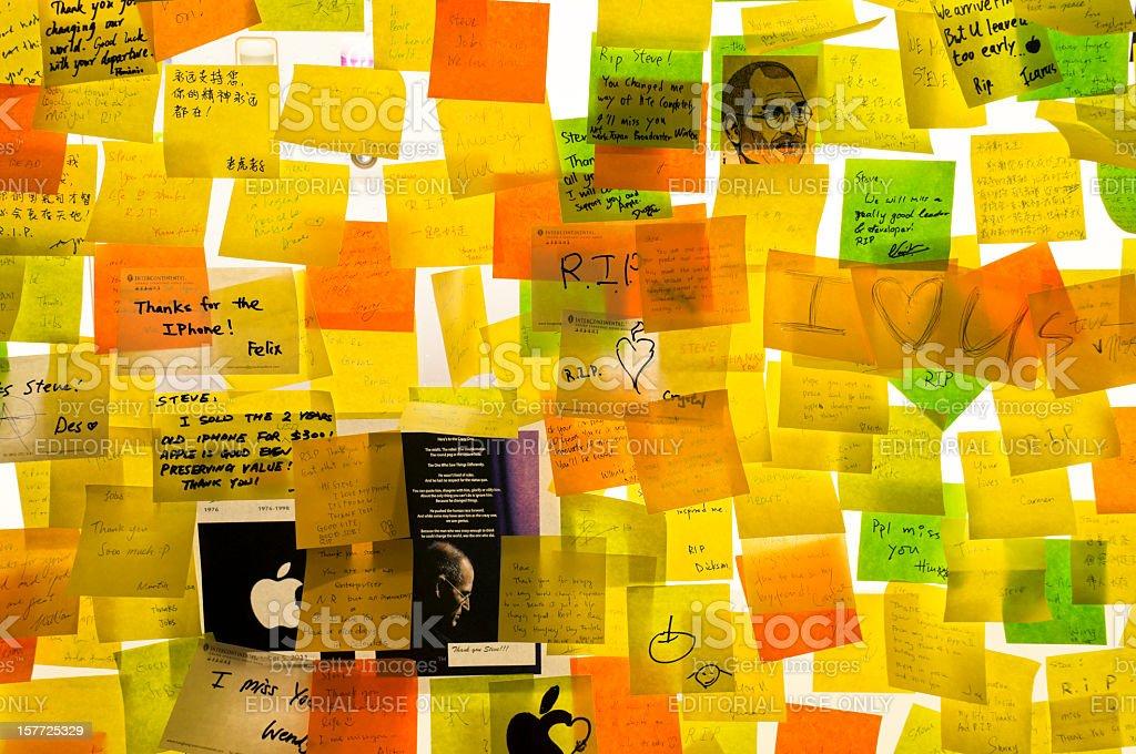Steve Jobs death memorial stock photo