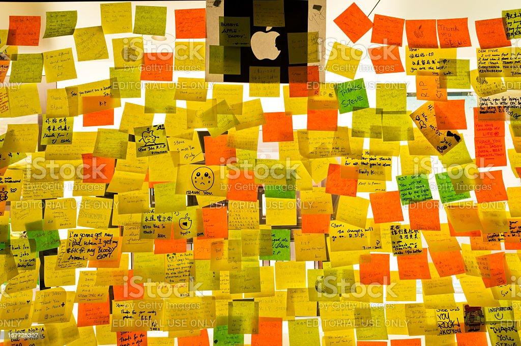 Steve Jobs death stock photo