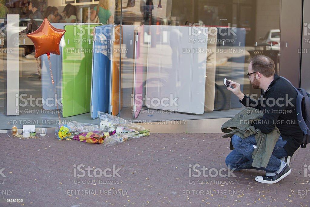 Steve Jobs Memorial III stock photo