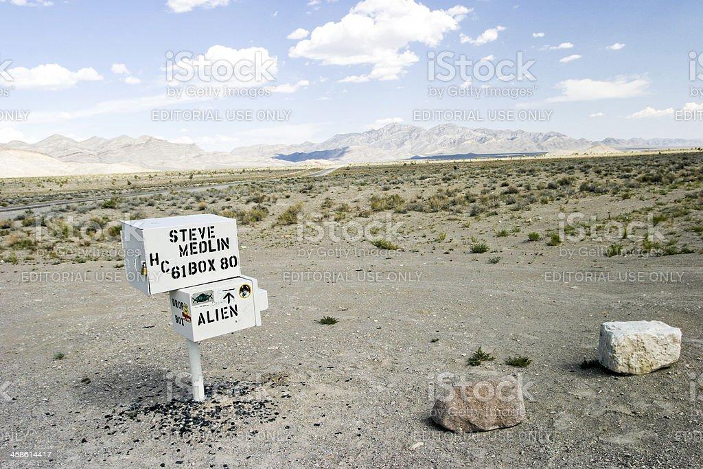 Steve Medlin's mailbox stock photo