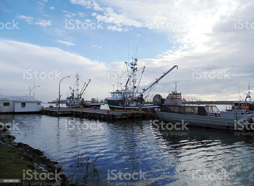 Steveston Dock stock photo