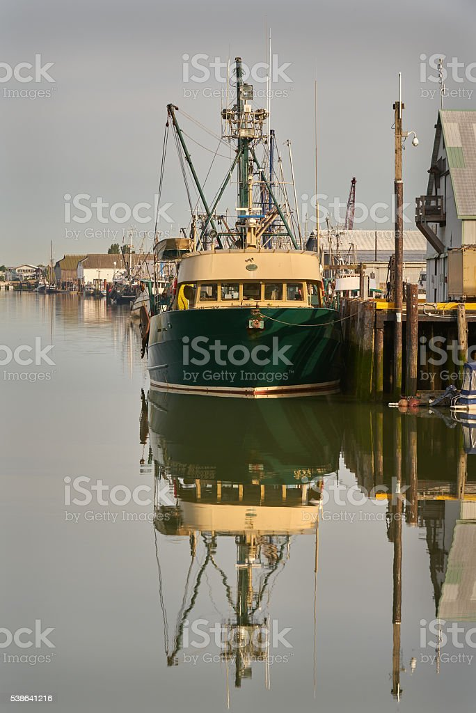 Steveston Fishboat stock photo