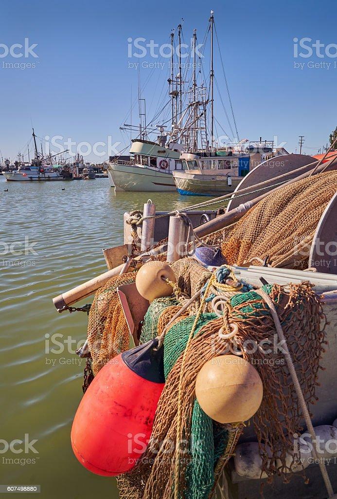 Steveston Fishboats stock photo