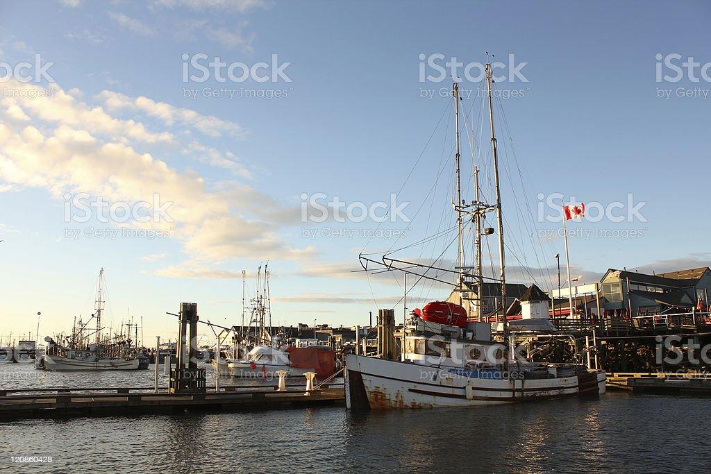 Steveston Harbor, Fisherman's Wharf, British Columbia royalty-free stock photo