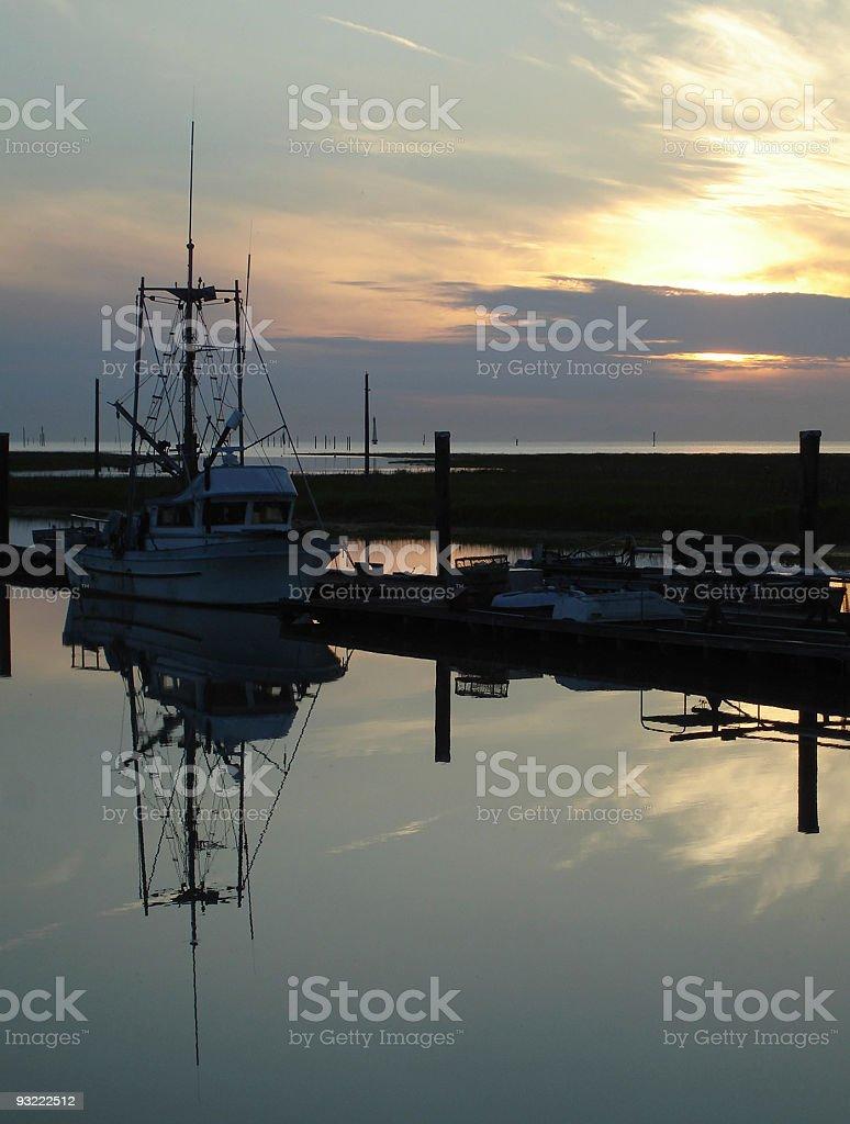 Steveston Scotch Pond Sunset vertical royalty-free stock photo
