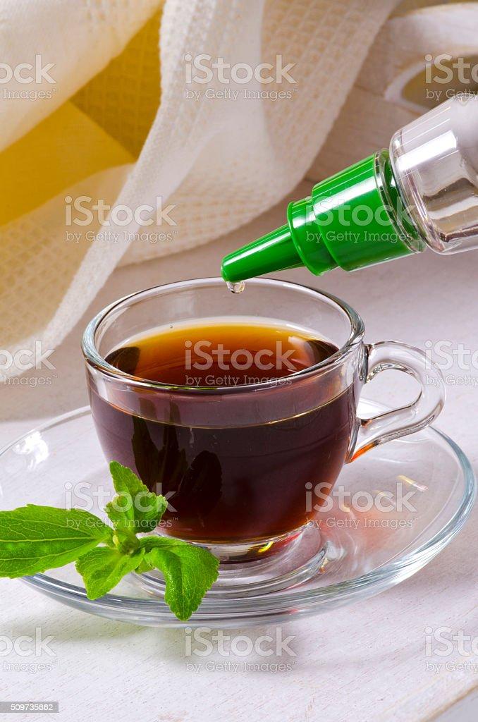 Stevia Drops. Natural Sweetener. stock photo