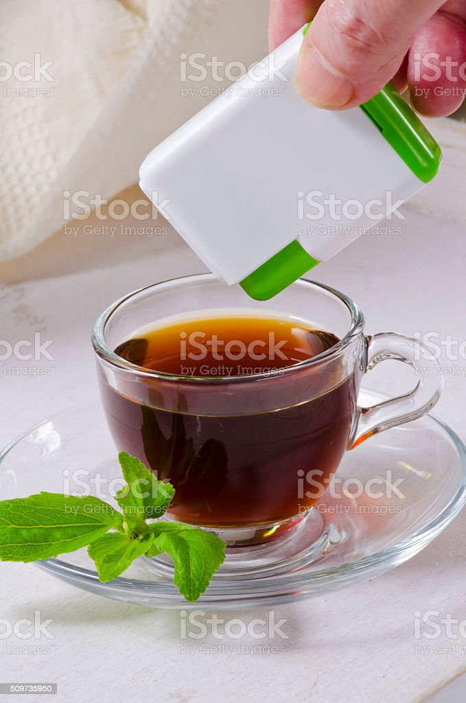 Stevia Pills. Natural Sweetener. stock photo