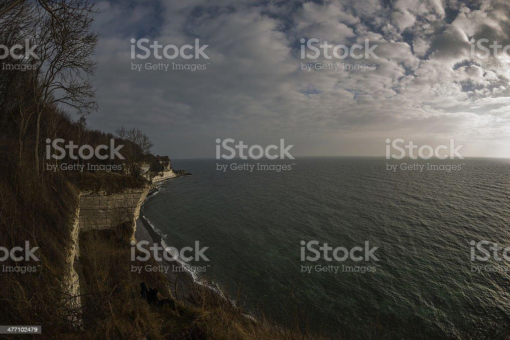 Stevns cliff, Zealand, Denmark royalty-free stock photo