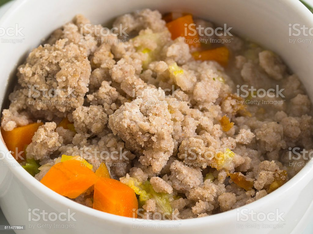 Stew and porridge stock photo