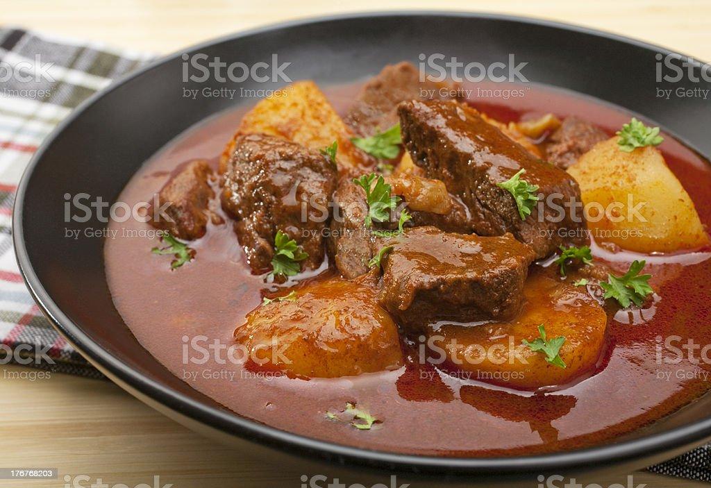 Stew Hungarian Beef Goulash Gulyas royalty-free stock photo
