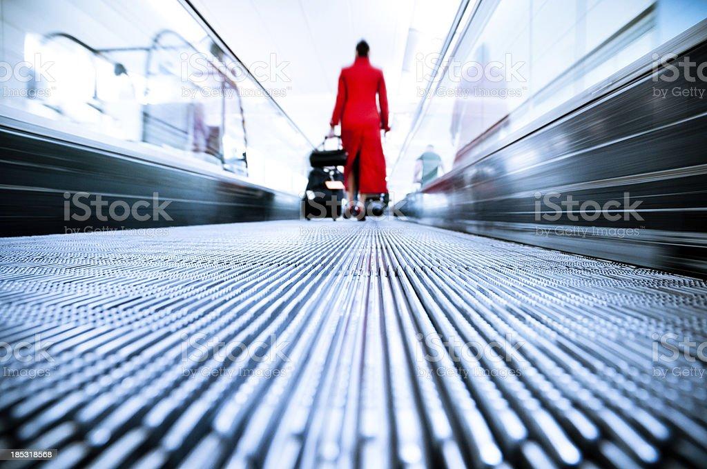 Stewardess Airport Travel stock photo