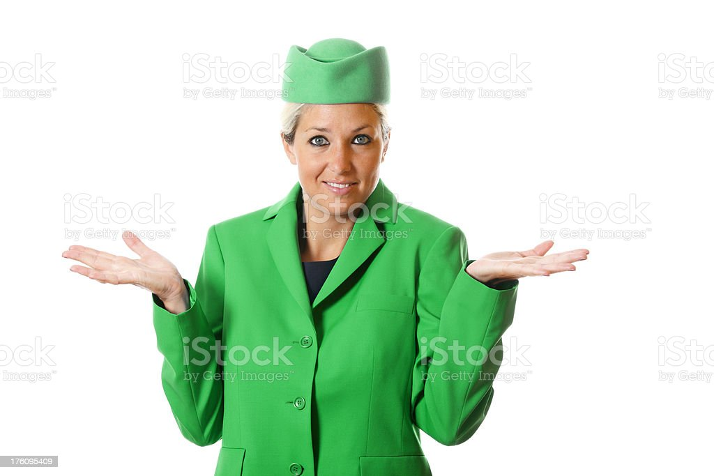 Stewardess royalty-free stock photo