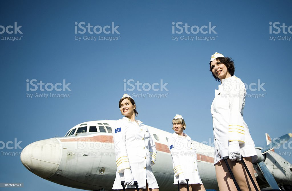 Stewardesses royalty-free stock photo