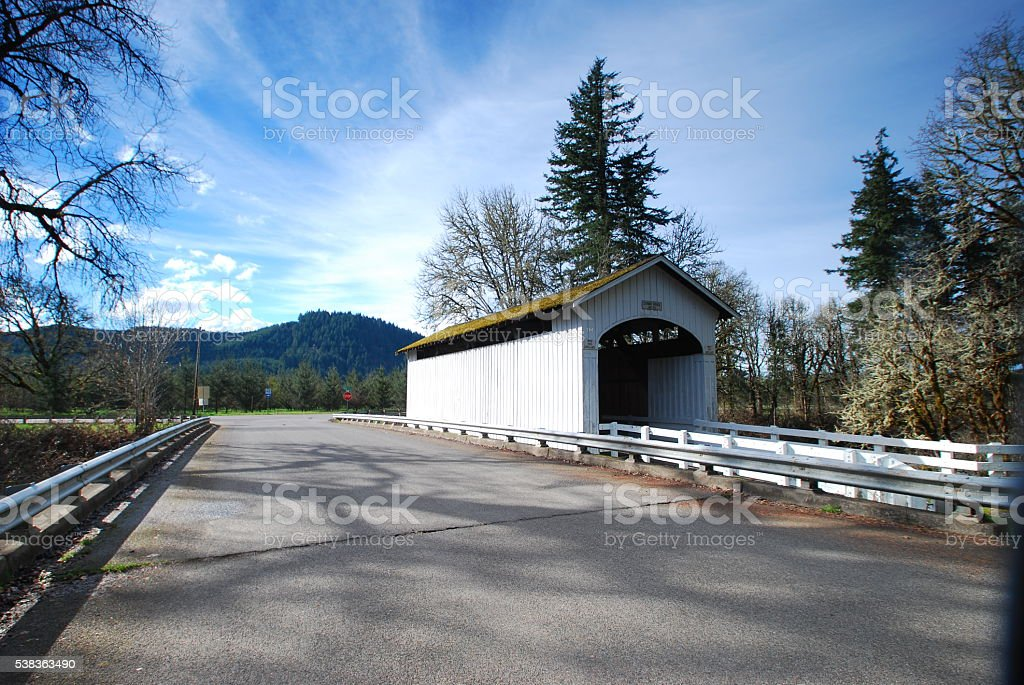 Stewart Bridge, Cottage Grove, OR stock photo