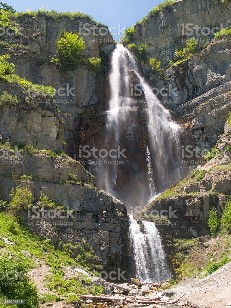 Stewart Falls from below stock photo