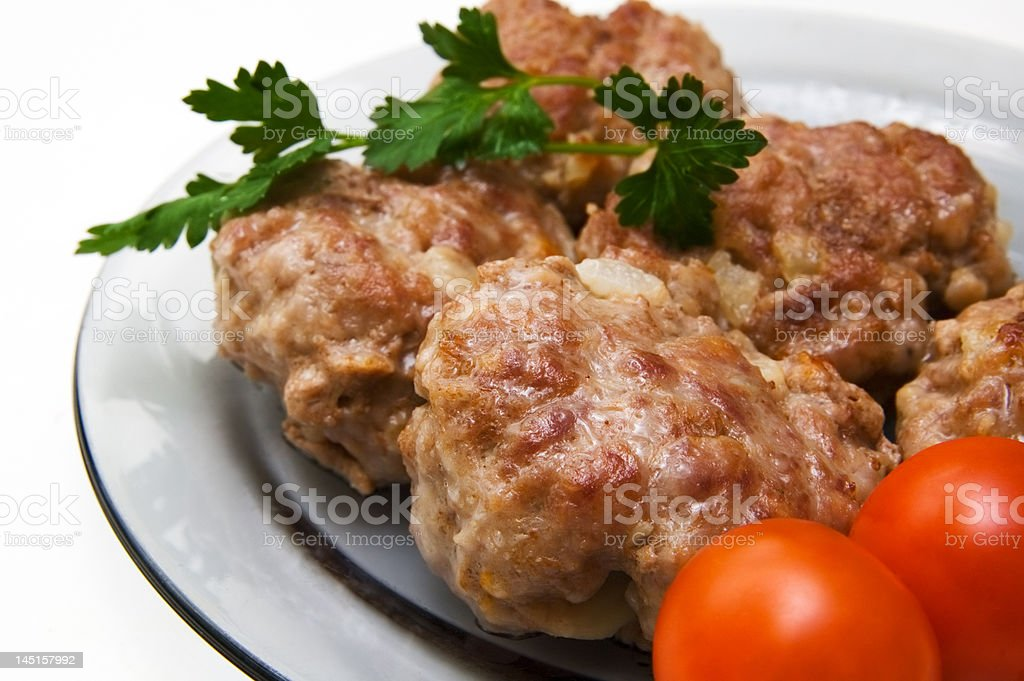 Stewed cutlets royalty-free stock photo