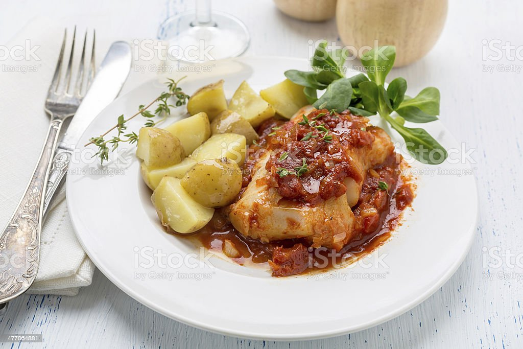 Stewed Fish royalty-free stock photo