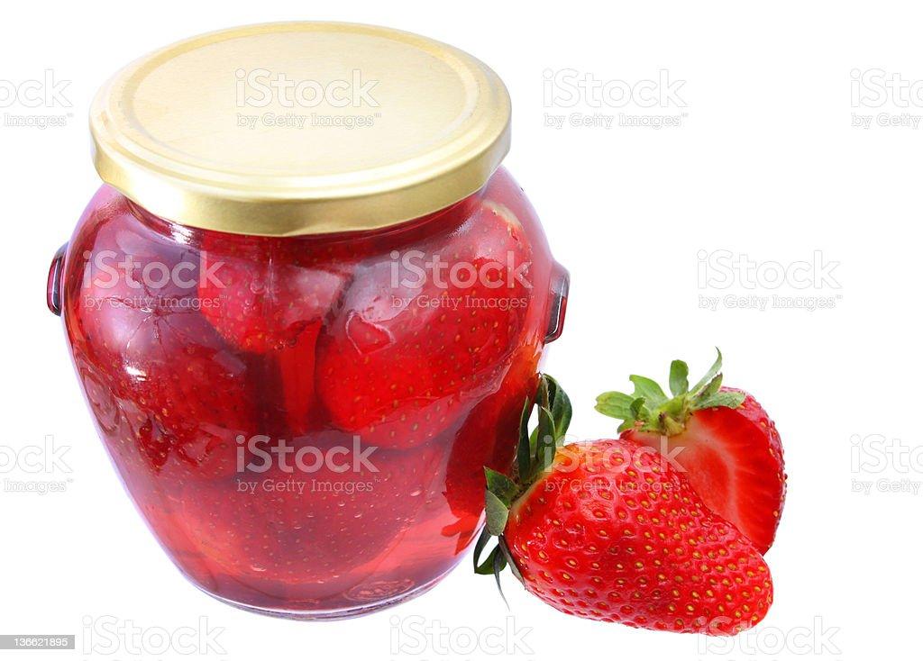 Stewed Strawberries stock photo