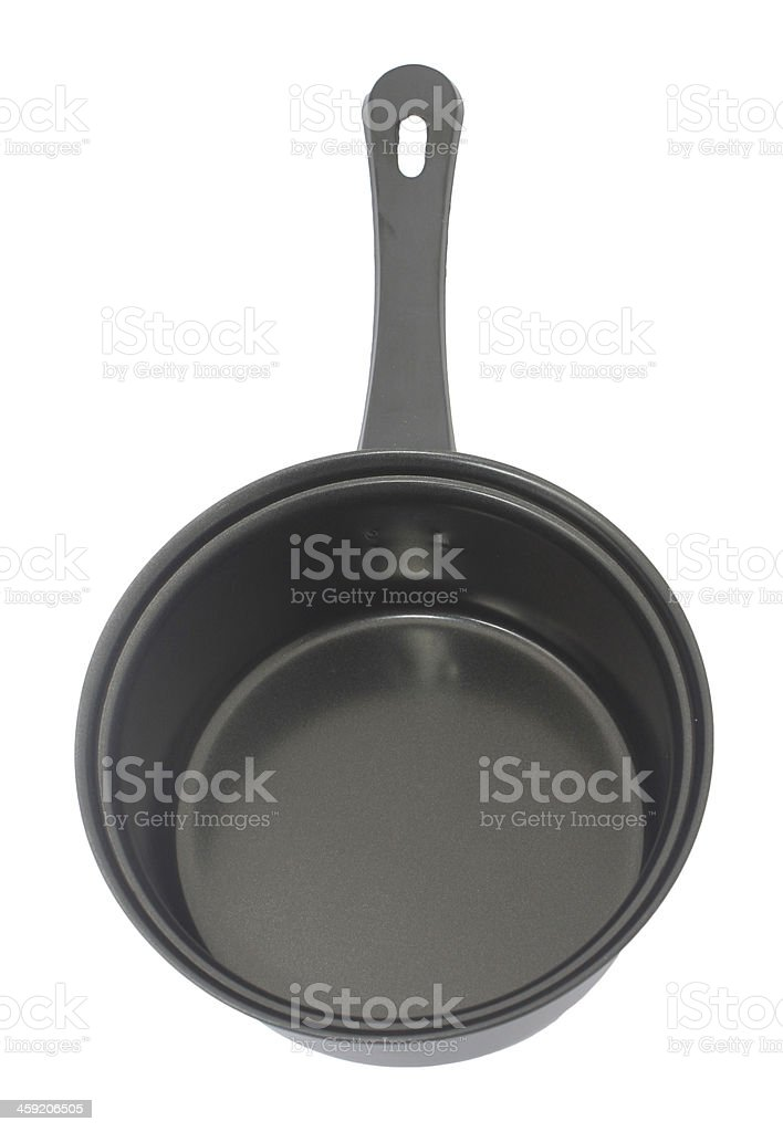Stewpot with non sticky coating isolated on white stock photo