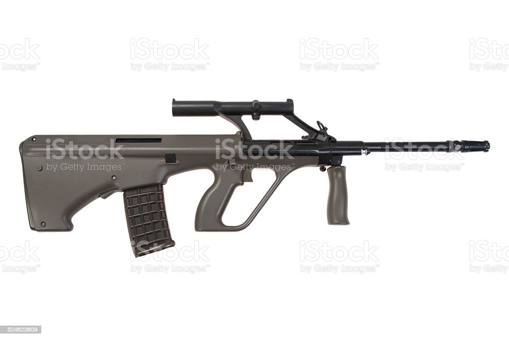Steyer Aug assault rifle stock photo