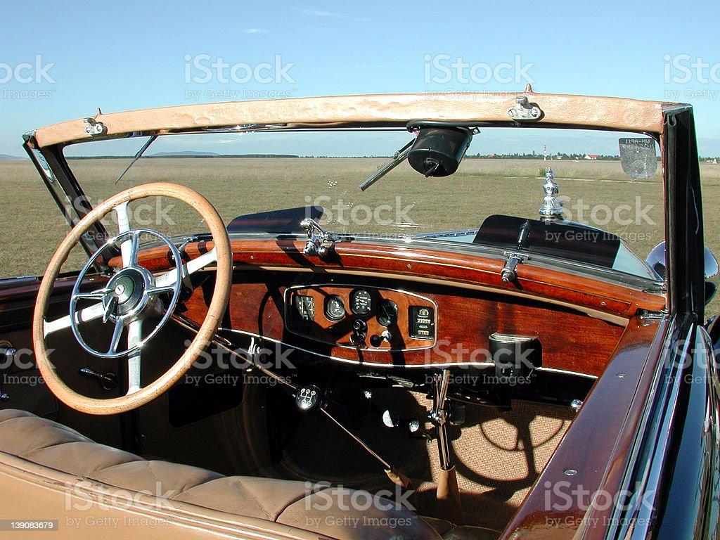 Steyr 1933 interior stock photo