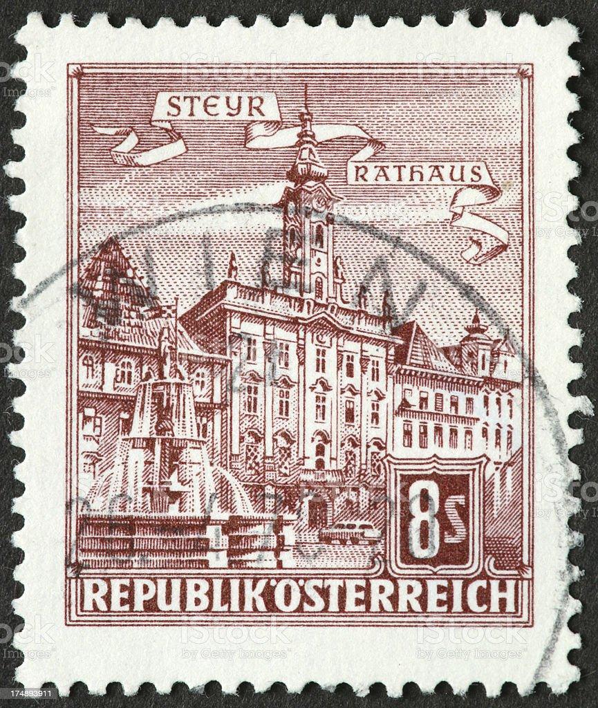 Steyr, Austria Rathaus royalty-free stock photo