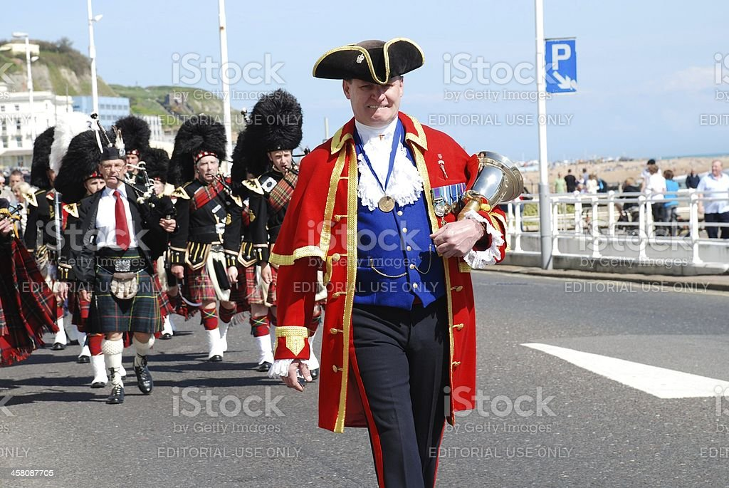 St.George's Day parade, Hastings stock photo