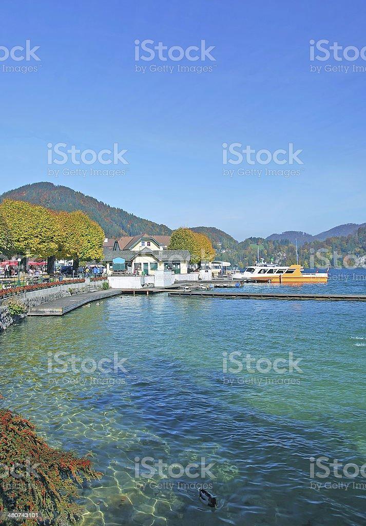 St.Gilgen ,Lake Wolfgangsee,Salzburger Land,Austria stock photo