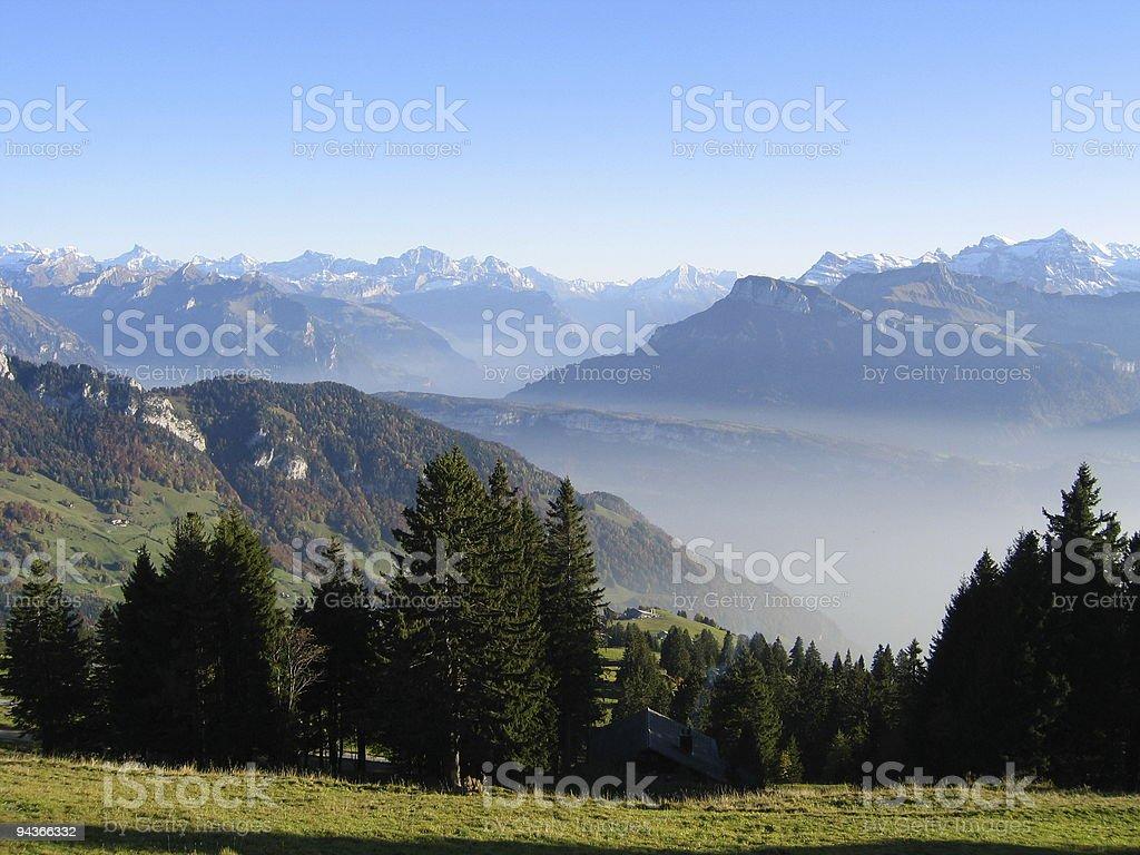 St.Gotthard view stock photo