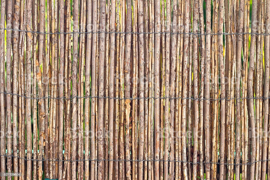 Stick Fence stock photo