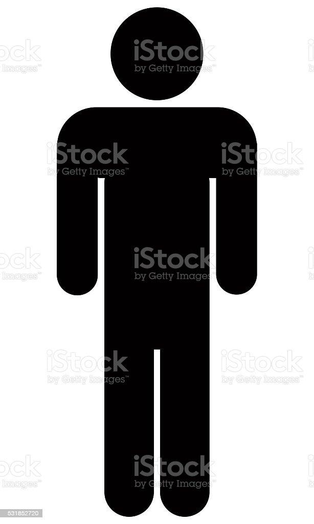 Stick Figure Icon stock photo