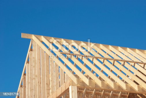 Stick Framing Roof Construction stock photo 182431719 | iStock
