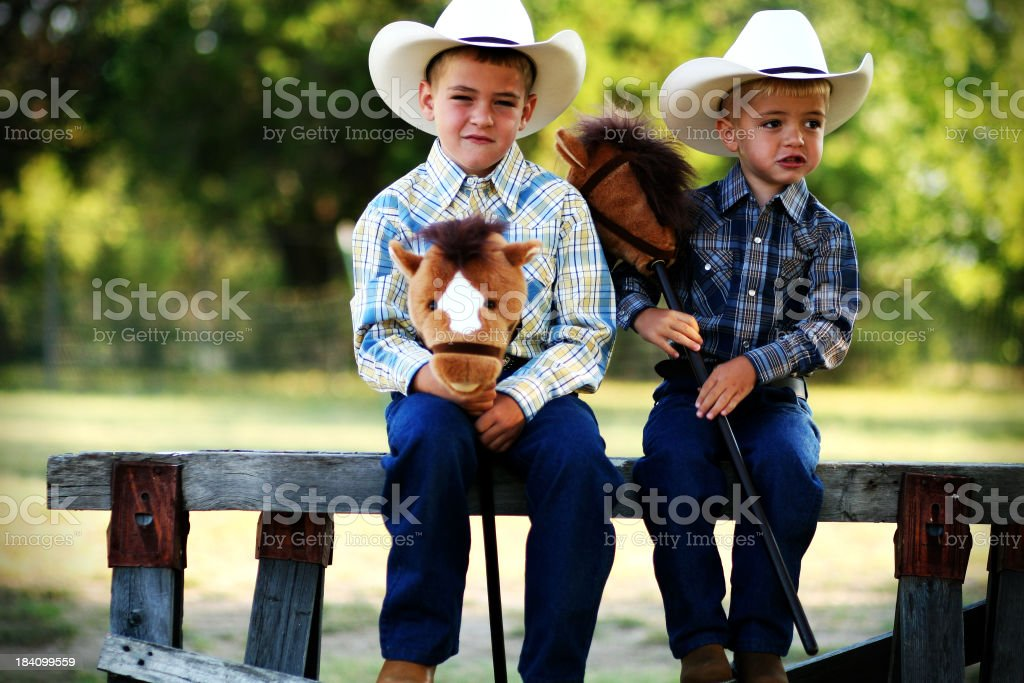 Stick Horse Ranchers stock photo