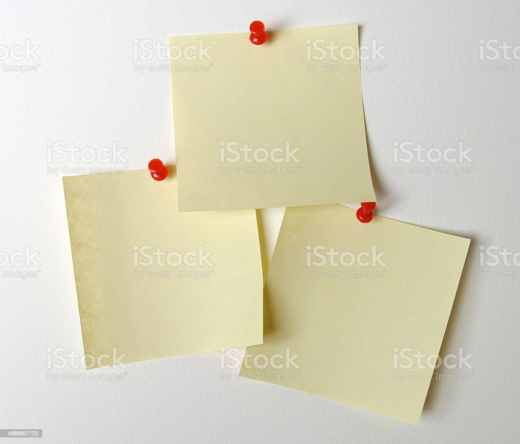 Stick note with clipping path stock photo
