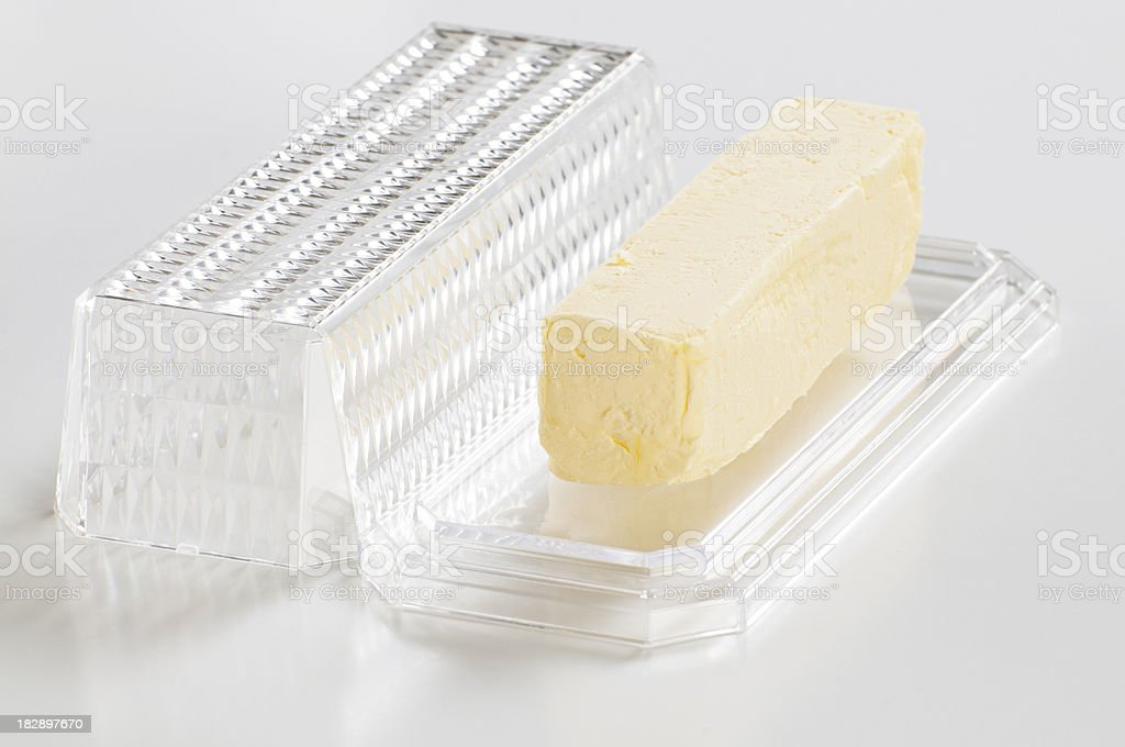 Stick of Butter In Dish royalty-free stock photo