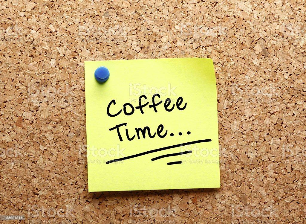 Sticker coffee time royalty-free stock photo