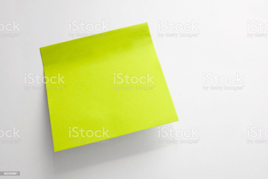 sticker on a wall royalty-free stock photo