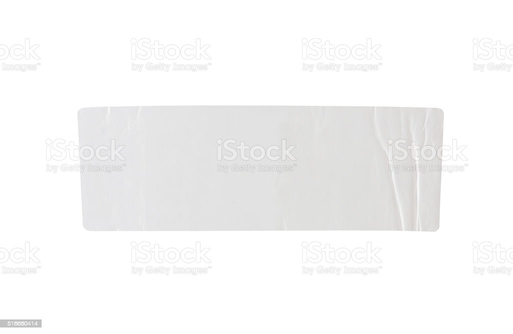 Stickers label with clipping path isolated on white background stock photo