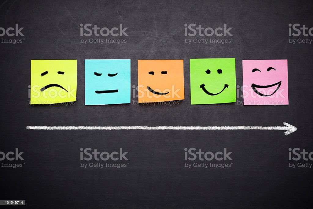 stickers with faces characters stock photo
