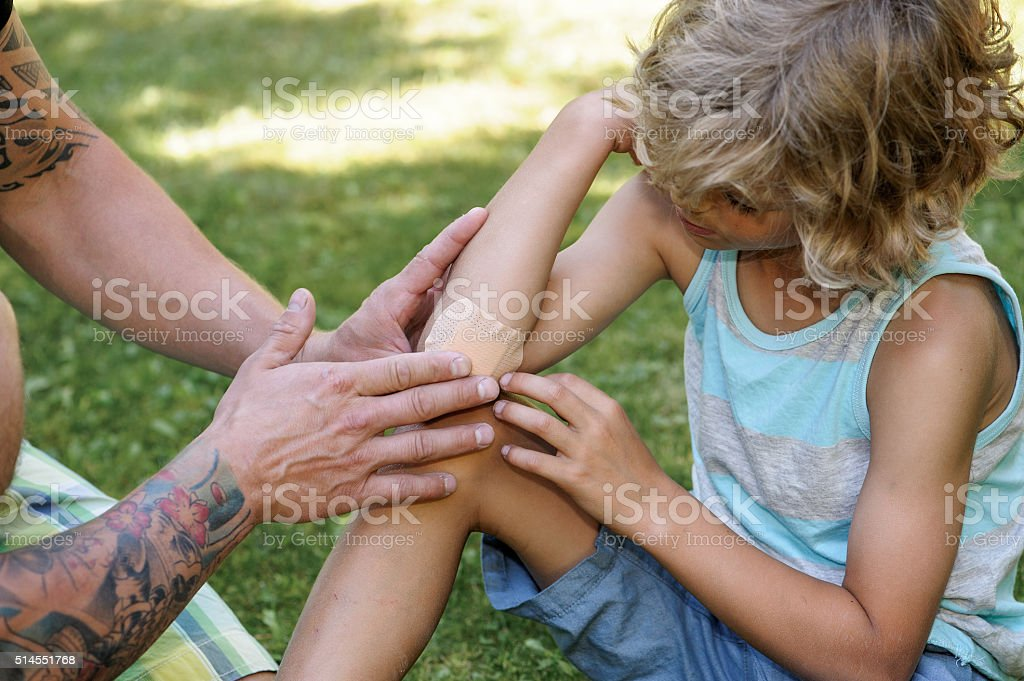 sticking plaster first aid stock photo