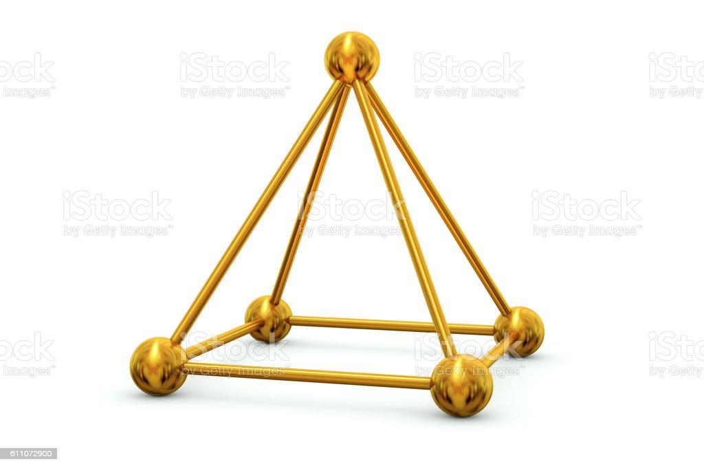 Sticks and beads rectangular pyramid stock photo